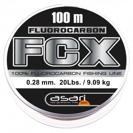 Fluorocarbono Asari FCX 100m Hilo de Pesca