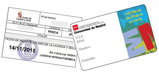 sacar licencia de pesca interautonómica en Madrid